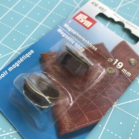 Застежка магнитная 19 мм (состаренная латунь). Prym. (Арт. 416482)