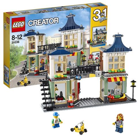 LEGO Creator: Магазин по продаже игрушек и продуктов 31036 — Toy & Grocery Shop — Лего Креатор Создатель