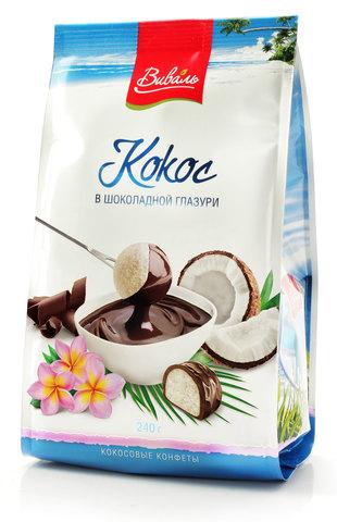 Кокос в шоколадной глазури 240г
