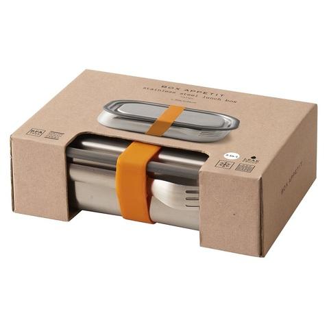 Ланч-бокс стальной оранжевый