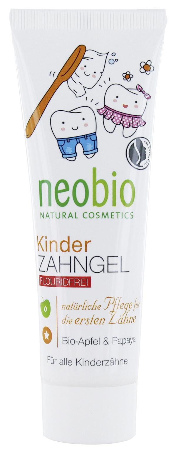 NEOBIO Гелевая зубная паста для детей без фтора с био-яблоком и папайей
