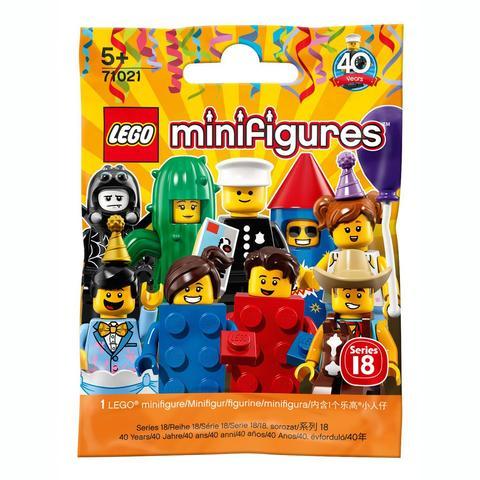 LEGO Minifigures: Юбилейная серия в ассортименте 71021 — Minifigure Series 18 Complete Random Set of 1 Minifigure — Лего Минифигурки