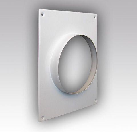 Торцевая площадка стальная 175х236/ф125 без решетки, с полимерным покрытием эмалью