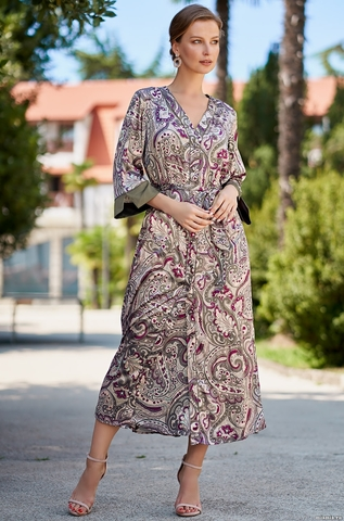 Шелковый халат Mia Amore Estel 3619 (70% шелк)