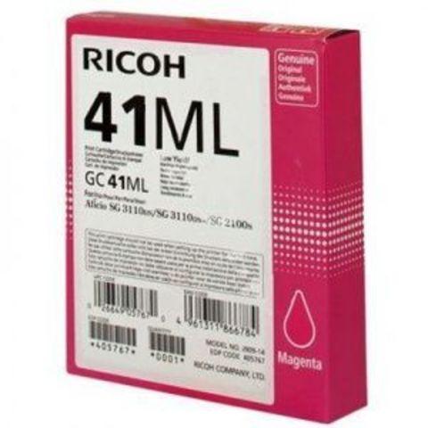 LE Картридж для гелевого принтера GC41ML пурпурный для Ricoh Aficio SG2100N/3110DN/DNw. Ресурс 600 стр (405767)