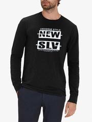 30198-7 футболка муж. с длинным рук. черная