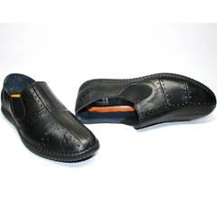 Мужские туфли на лето Luciano Bellini 107607 Black.