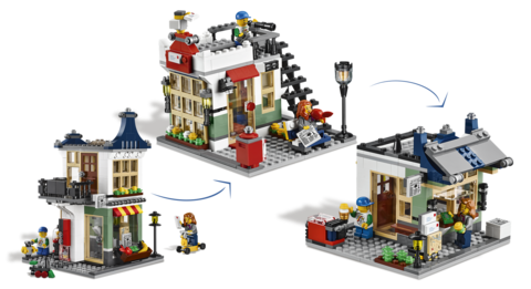 LEGO Creator: Магазин по продаже игрушек и продуктов 31036