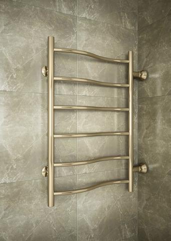 Volna Bronze -  слегка изогнутый бронзовый полотенцесушитель