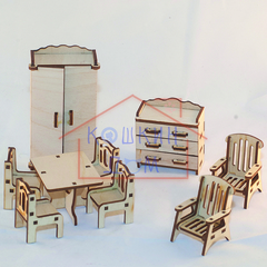 Набор сборной кукольной мебели