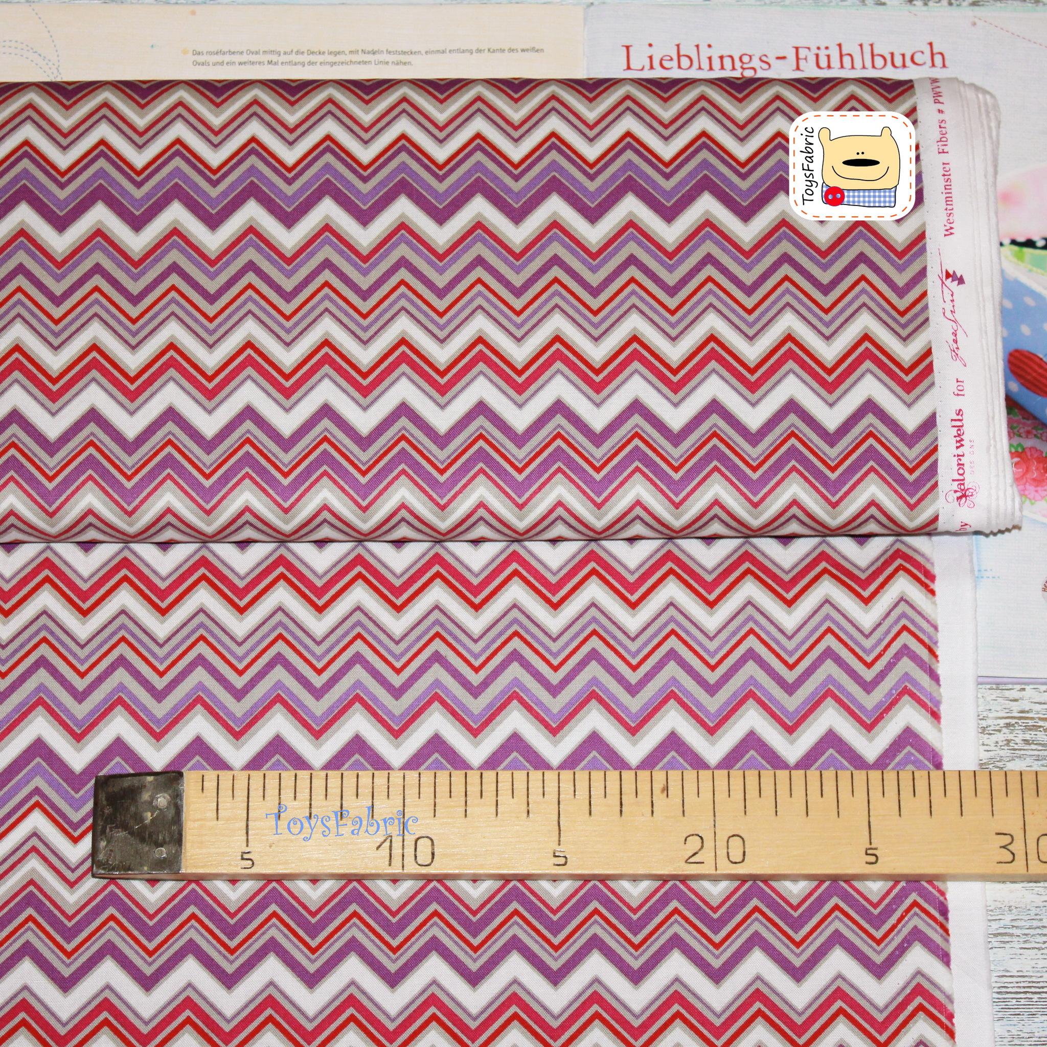 Ткань для пэчворка 20798 (фиолетовый шеврон) 45х55см