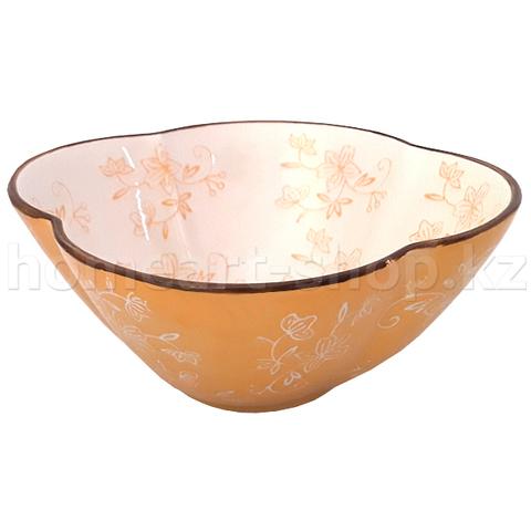 Салатник цветной, глазурь, каменная керамика, 8 х 17.5 см.
