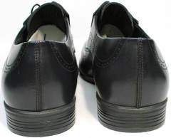 Мужские стильные туфли броги Ikos 3416-4 Dark Blue.