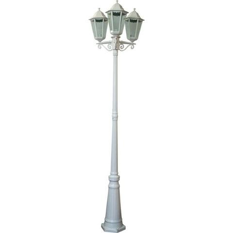 Светильник садово-парковый, 3*100W 230V E27 белый, 6215 (Feron)