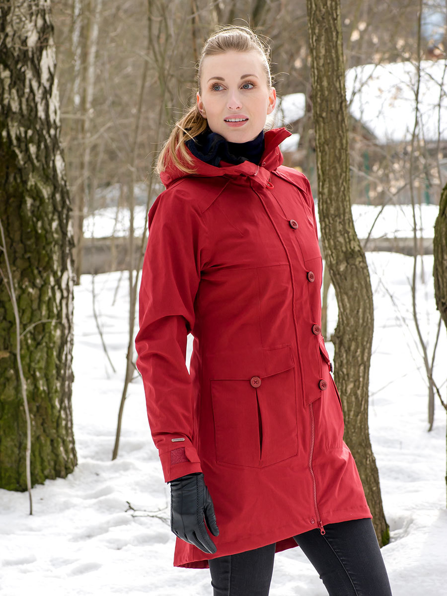 Bergans пальто 7525 Bjerke 3in1 Lady Coat Burgundy