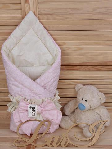Конверт одеяло Забава (розовый/кремовый)