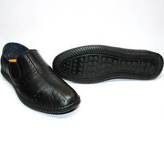 Модные мужские летние туфли Luciano Bellini 107607 Black.
