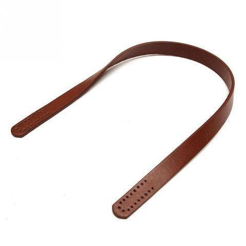 """Ручки из эко-кожи пришивные """"Темно-коричневые"""" 60см 2 шт."""