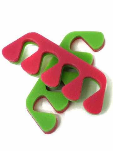 Разделители для пальцев 8 мм. розовый,салатный п/проп 20 пар/упк