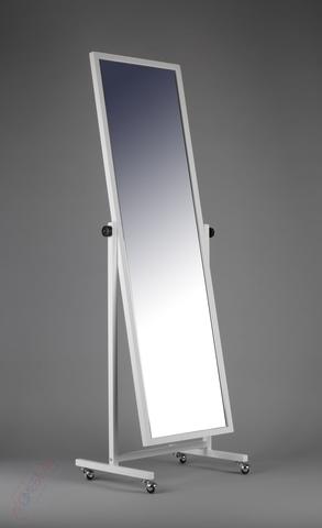 ТД-150-40 Зеркало двухстороннее напольное с колесами (белое)