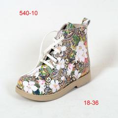 Зимние ботинки для девочек на шнуровке и молнии