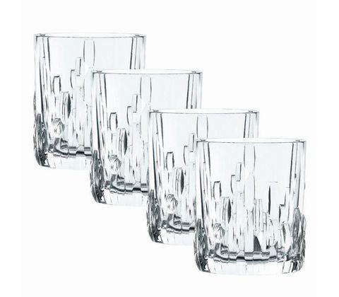 Набор из 4 хрустальных стаканов для виски SHUFA