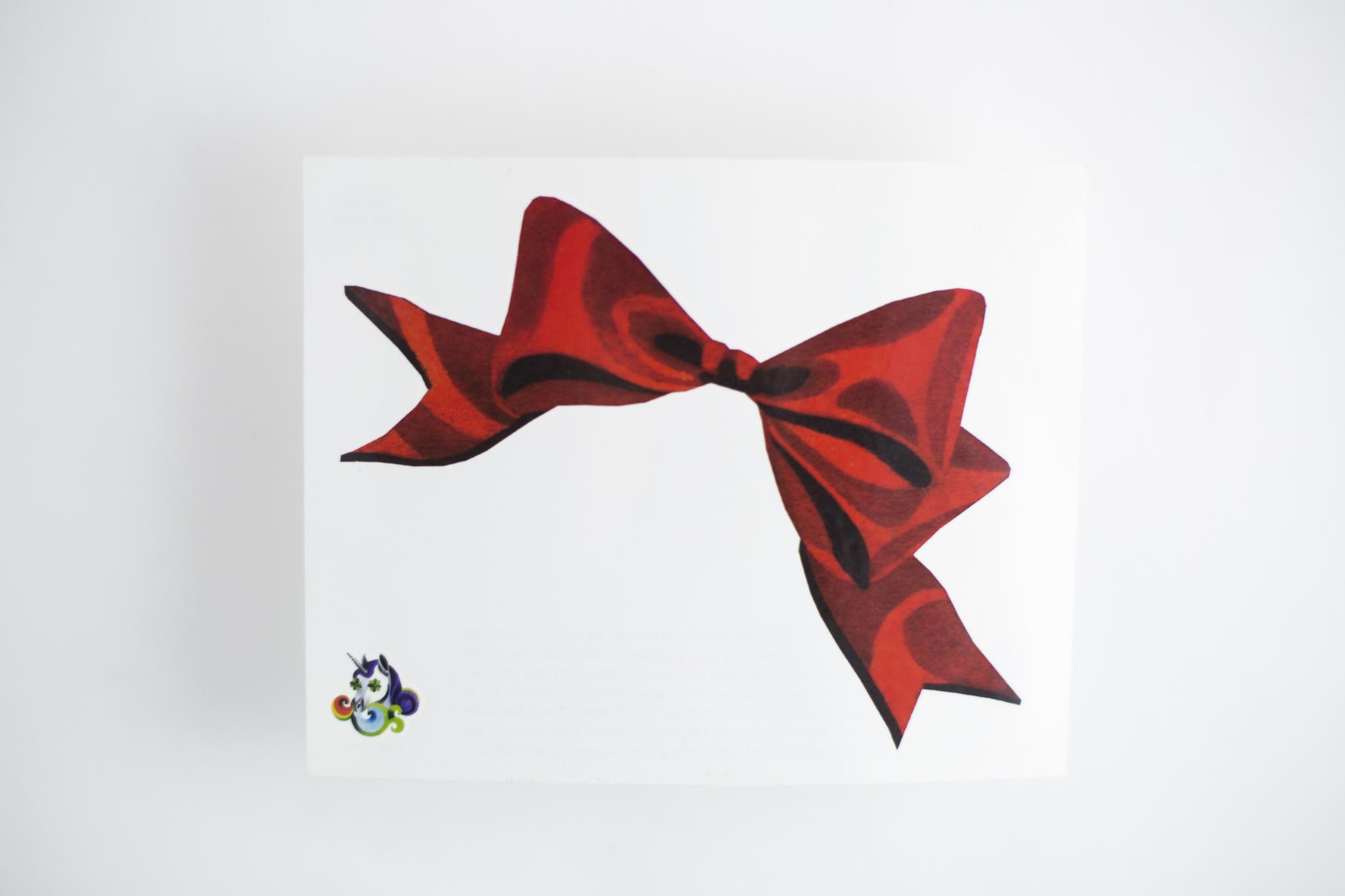 Переводная татуировка Red bow