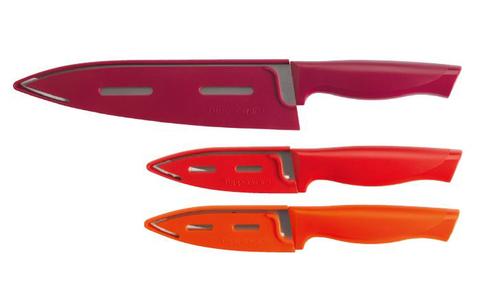 Нож гурман для овощей в красном цвете