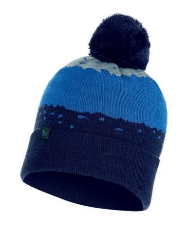 Вязаная шапка Buff Hat Knitted Tove Night Blue