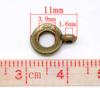 Бейл 11х8 мм (цвет - античная бронза) (B12805B)