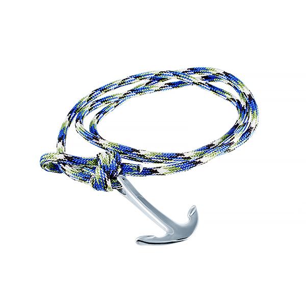 Текстильный браслет с якорем JV 383-0003