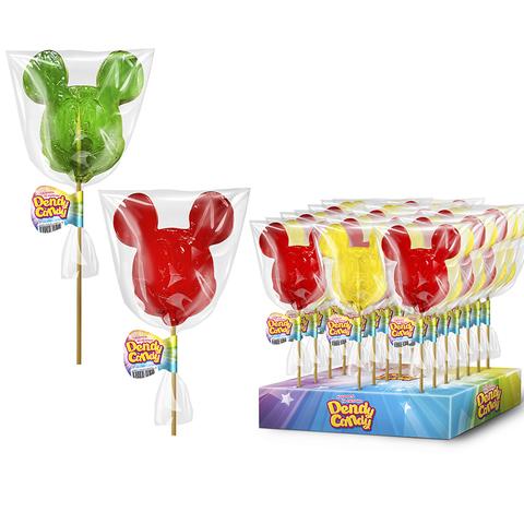 Леденцовая карамель на палочке Микки Маус Dendy Candy 1кор*4бл*30шт 40гр