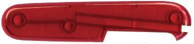 Задняя накладка для ножей Victorinox 91 мм, пластиковая, полупрозрачная красная