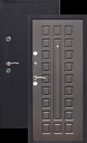 Дверь входная Йошкар Венге , 2 замка, 1,2 мм  металл, (медь антик+венге)