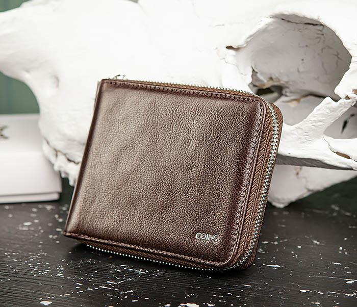 WL324-2 Мужское портмоне из кожи на молнии, «Atos» фото 03