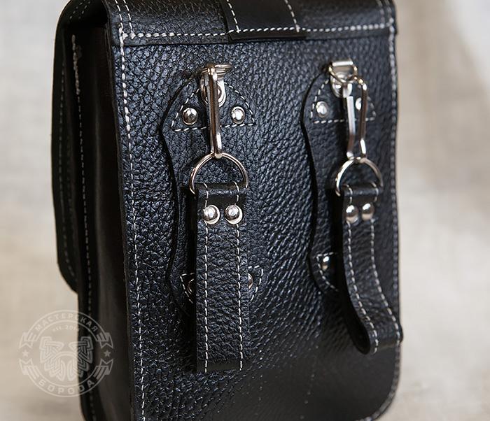 BAG379-1 Мужская сумка на пояс из натуральной кожи, ручная работа фото 03