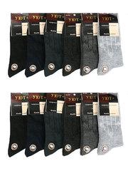 6082 носки мужские (41-47), цветные (12шт)