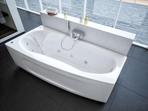 Ванна акриловая асимметричная ПАНДОРА 160х75 AQUATEK (с каркасом и фронтальной панелью)