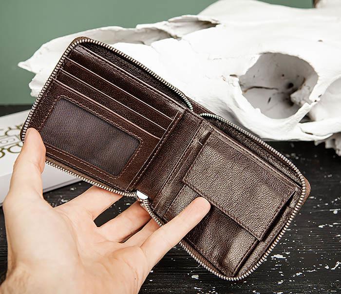 WL324-2 Мужское портмоне из кожи на молнии, «Atos» фото 04
