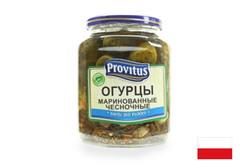 Огурцы маринованные чесночные Provitus, 640г