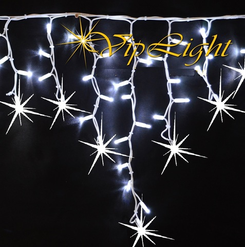 Новогодняя гирлянда бахрома светодиодная на фасад уличная лед