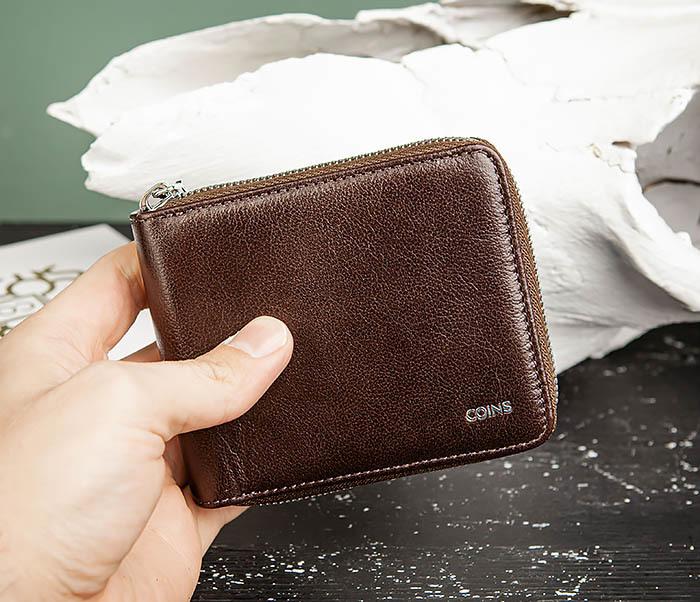 WL324-2 Мужское портмоне из кожи на молнии, «Atos» фото 06