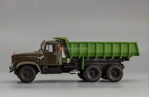 KRAZ-256B1 dump khaki-green 1:43 Nash Avtoprom