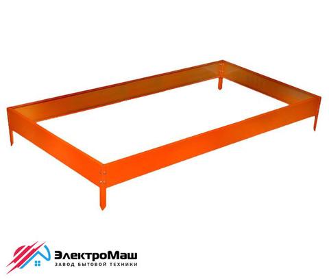 Грядка оцинкованная 2000х1000х150 мм, цвет оранжевый