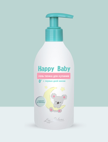 Liv delano Happy Baby Гель-пенка для купания с первых дней жизни 0+ 300г