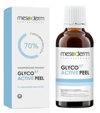 Гликолевый химический пилинг 70%, pH 0,7 Глико Актив Пил ,Glyco Active Peel Mesoderm, 30 мл.