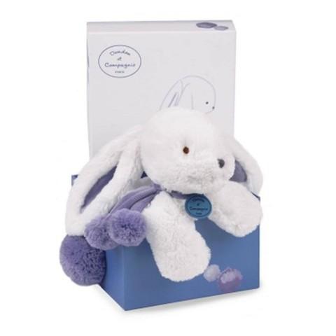 Doudou et Compagnie. Pompon MM rabbit lavander 25cm