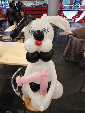 Собачка из шаров