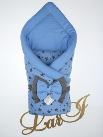 Конверт одеяло Звездопад  (голубой)