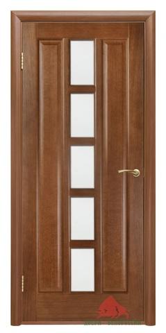 Дверь Квадро ПО 40,60, 70, 80, 90(каштан)  (каштан, остекленная шпонированная), фабрика Двери Белоруссии